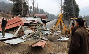 2 illegal constructions demolished in pahalgam