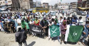 Kashmir witnessed protests post Friday prayers