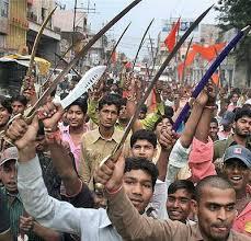Hindu fanatics being armed against Muslims in Kishtwar