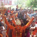 Bajrang Dal activists brandish Swords, Trishul's in Jammu: Hanuman Janmotsav