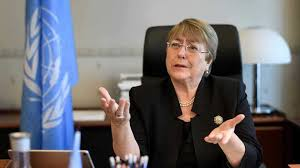 Michelle Bachelet UN rights chief urges India, Pak to take