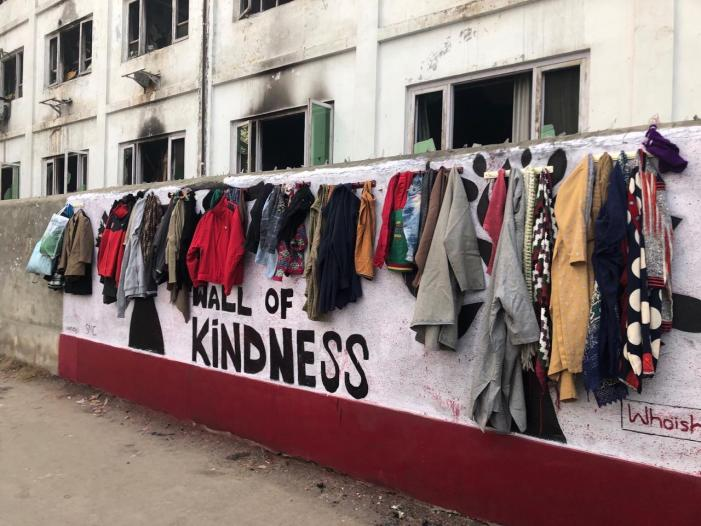 Wall of Kindness' comes up in Srinagar