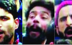 Lookout notice for three men involved in anti-national sloganeering