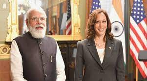 In an historic meet Narender Modi gently got a presses on human rights by Kamala Harris